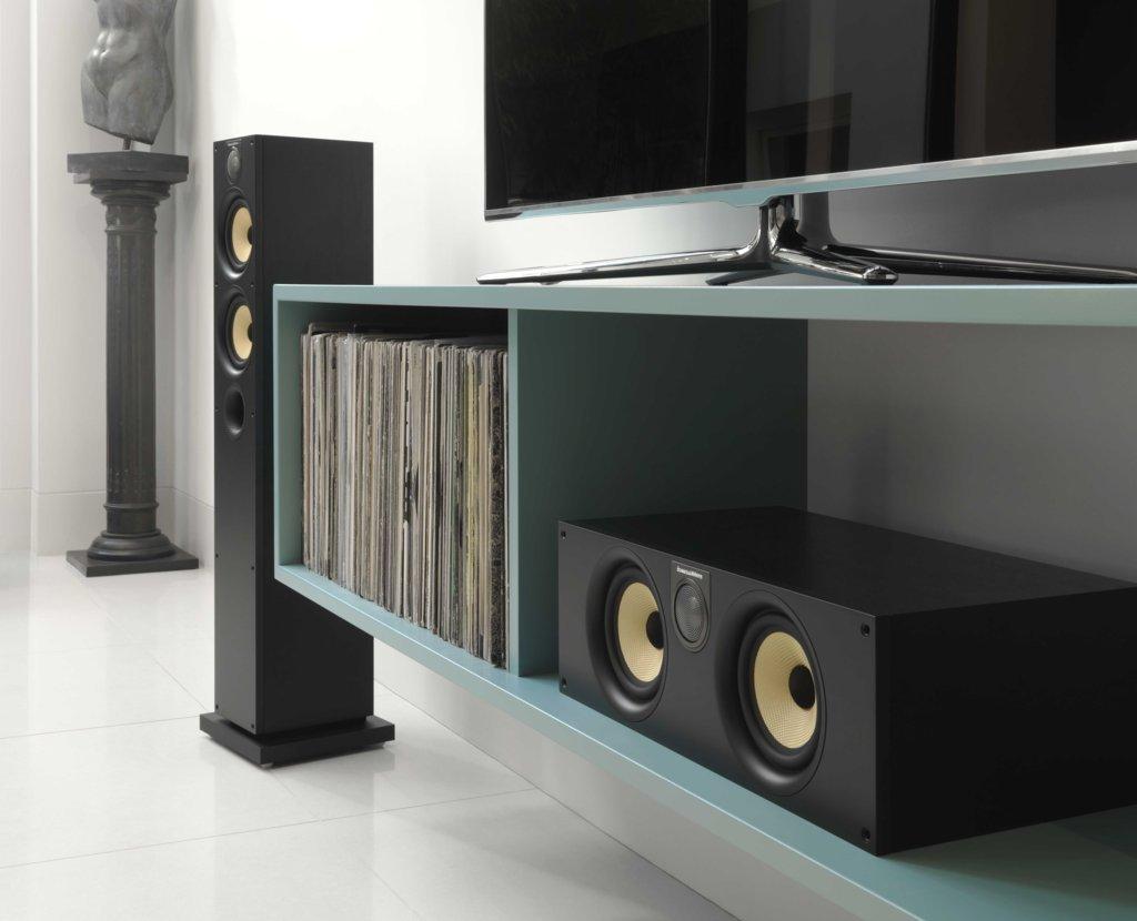 B&W LoudspeakersHTM62 S2 BLACK ASH
